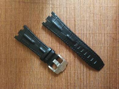 AUDEMARS PIGUET 28 mm Black Leather Watch Strap
