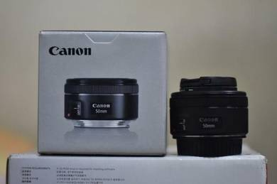 Canon 50mm f1.8 stm full boxed