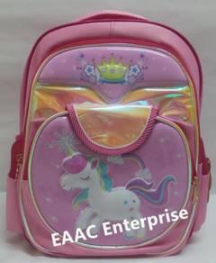 Big 3D Unicorn Primary Secondary School Bag Backpa