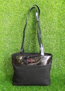 Auth CELINE long strap black tote bag kueii