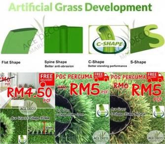 Artificial Grass Rumput Tiruan C Shape Free POS 28