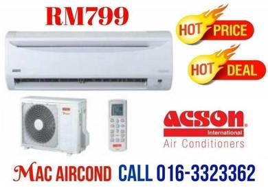 KL City ACSON Aircond PROMOTION NOW 1.0HP 799