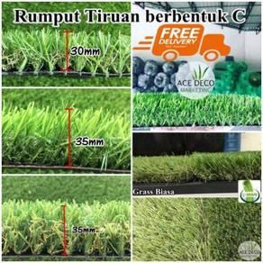 FREE POS Artificial Grass Rumput Tiruan C Shape
