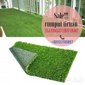 Pakej artificial grass / rumput tiruan murah