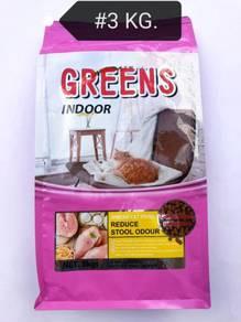 Greens Indoor Cat Food Feed Makanan Kucing 3kg