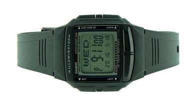 Casio Data Bank 10 Year Batt. Rubber Watch DB-36-1