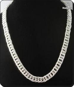 ABNSM-C003 Silver Plate Nice Patern Chain Necklace