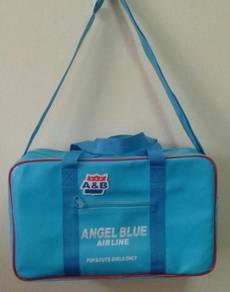 Rare angel blue airline bag travel