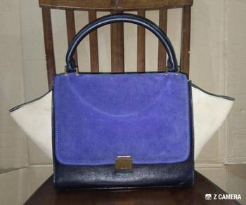 Shoulder/Tote Bag Tri-color Leather Celine Trapeze