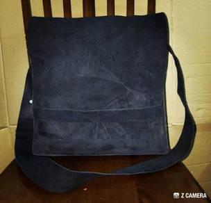 Messenger Bag Suede Leather Unbrand