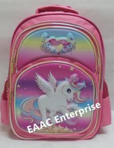 Big 3D Unicorn 2 Primary Secondary School Bag Back