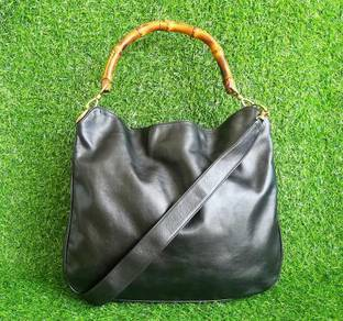 Auth/ori GUCCI bambo full leather sling bag kueii