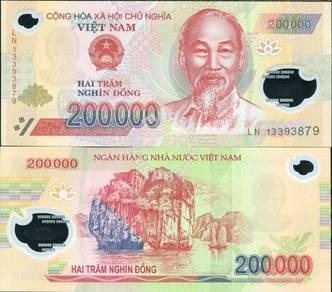 Vietnam 200000 dong p 123 polymer unc