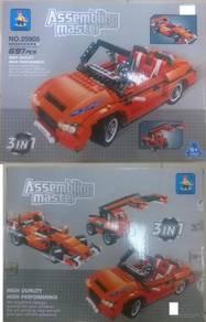 Lego 3 in 1 Car Set Kids Toy (Kereta 3 dalam 1 )