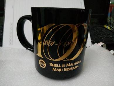Vintage SHELL mug cawan 1991 100year annvs