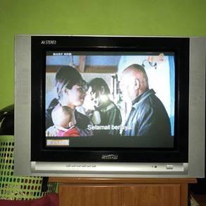 Tv 21 inci jenama MISTRAL.tv flat screen.