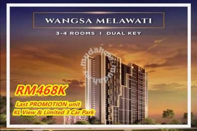 Wangsa Maju Melawati New Project 3room 2CP Badminton Court Ready