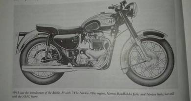AjS Norton Model 33 Replica Rare bsa triumph honda