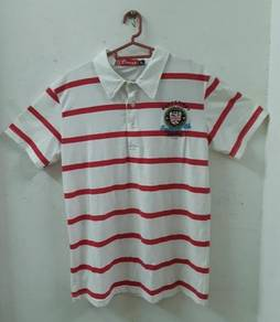 Brand new red stripe white colar Tee / T-shirt