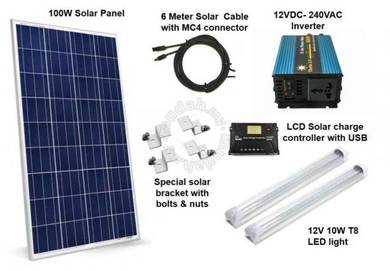 100W Solar AC System with Pure Sine Wave Inverter