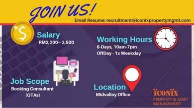 Booking Consultant Telesales & FB Marketing