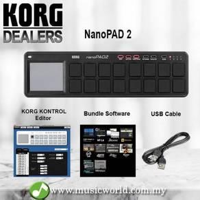 Korg NanoPAD 2 Midi USB Controller Black With Soft