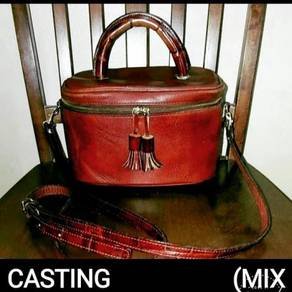 Cross Body Bag Leather Casting Party