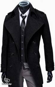 Fall-Winter Korean Style Mens breasted trench coat