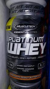 Platinum Whey protein isolate muscletech chocolate