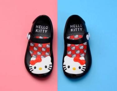 Kids Cartoon Jelly ShoesSandal -HELLO KITTY BLACK