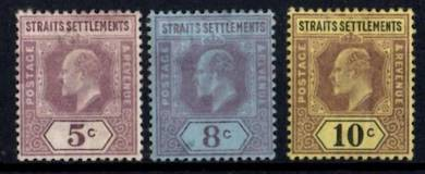 Ss kevii 1902-03 - sg113-115 mm - cv 34+ bk891