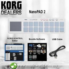 Korg NanoPAD 2 Midi USB Controller White With Soft