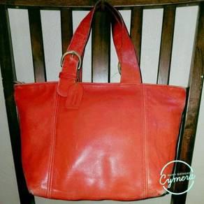 Tote Bag Tan Leather Vtg COACH Soho Waverly