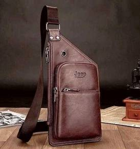 Genuine Leather Jeep SlingBag For Men