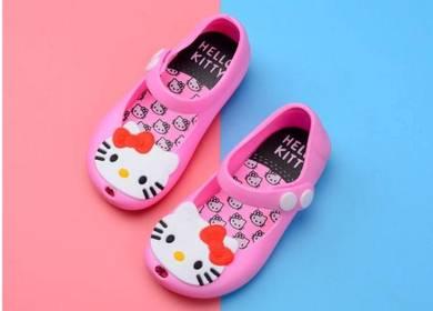 Kids Cartoon Jelly Shoes Sandal -HELLO KITTY PINK