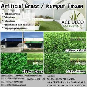 Pemborong Artificial Grass / Rumput Tiruan C-Shape