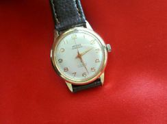 Swiss Flora Gold Wrist Watch.