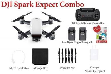DJI Spark Expect Combo come with MicroSD Card 16gb