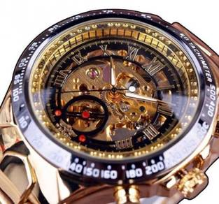 Limited Gold Skeleton Automatic Mechanical Watch