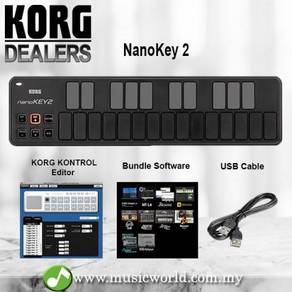 KORG NanoKEY 2 Midi Controller USB Keyboard Black