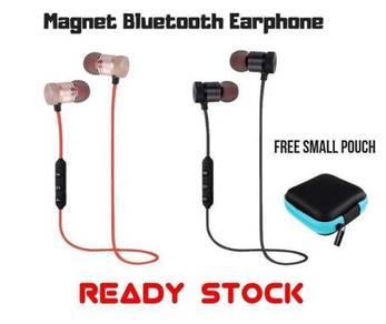 Magnet Wireless Earphone free pouch free