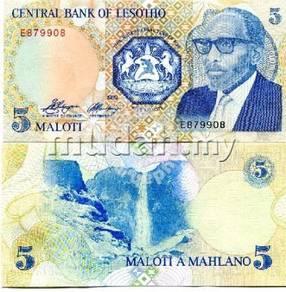 Lesotho 5 Maloti 1989 P-10 UNC
