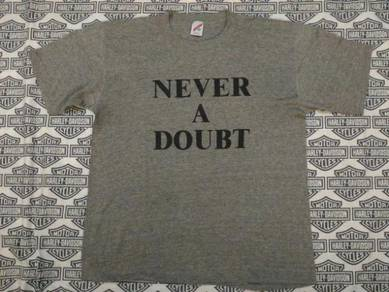 Vintage Rayon T Shirt NEVER A DOUBT 3 Kain