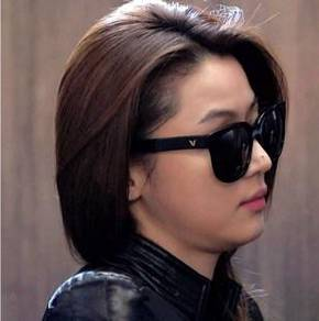 Korea-style Fashion Anti UV Sun Glasses (Black)