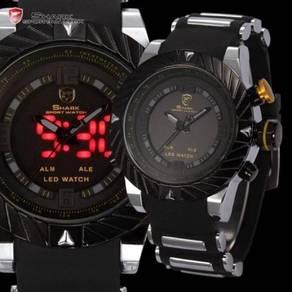 SHARK LED Digital & Analog Yellow Watch