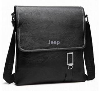 Jeep Genuine Leather Men's Sling Bag