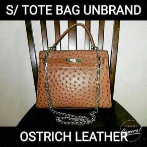 Sling/ Tote Bag Ostrich Leather Unbrand