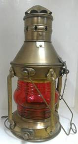 Antique Marine Ship Lantern Oil Lamp