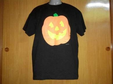 Vtg pumpkin hallmark 50-50 tshirt