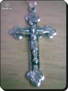 ABPSM-C001 Silver Metal Crucifix Pendant Necklace